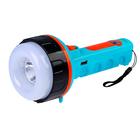 Фонарик от солнечной батареи, 2 LED, 220V, 2 режима, компас, USB, микс, 9х21 см