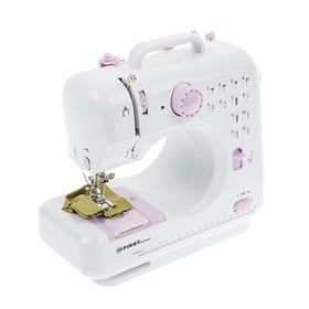 Швейная машинка FIRST FA-5700-2, 2 скорости, реверс, 4xАА, фиолетовая Ош