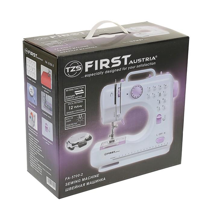 Швейная машинка FIRST FA-5700-2, 6 В, 1200 мА, от 4 батареи АА, фиолетовый