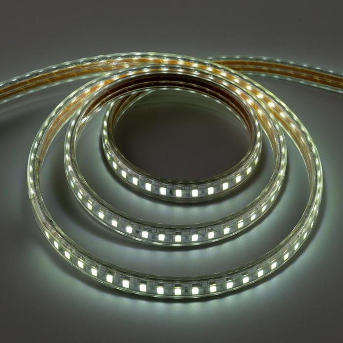 Светодиодная лента ЯРКАЯ 220В,SMD5630, 100 м, IP68, 120 LED, 25 Вт/м,35 Лм/LED, AC, БЕЛЫЙ