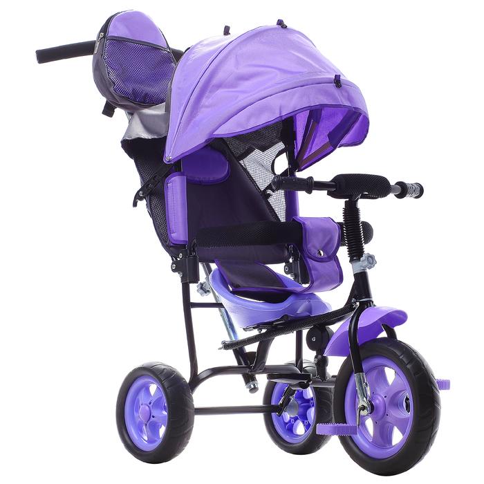 """Велосипед трёхколёсный «Лучик Малют 2», колёса EVA 10""""/8"""", цвет фиолетовый"""