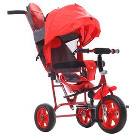 """Велосипед трёхколёсный «Лучик Малют 2», колёса EVA 10""""/8"""", цвет красный"""