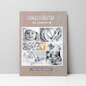 Папка для свидетельства о рождении «Мои первые документы», под новый формат, А4, 32 х 22,3 см