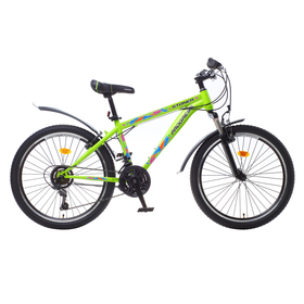 """Велосипед 24"""" Progress модель Stoner RUS, 2017, цвет зеленый, размер 15"""""""
