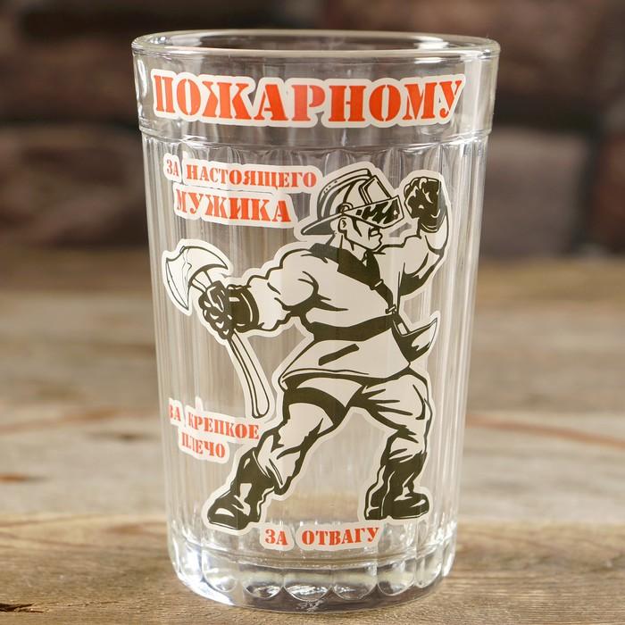 """Стакан граненый """"Пожарному!"""""""