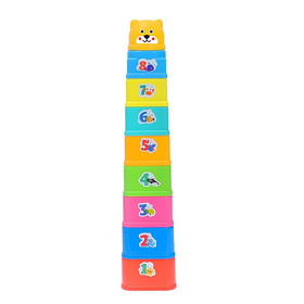 Развивающая игрушка «Пирамидка-стаканчики: Море», 9 предметов