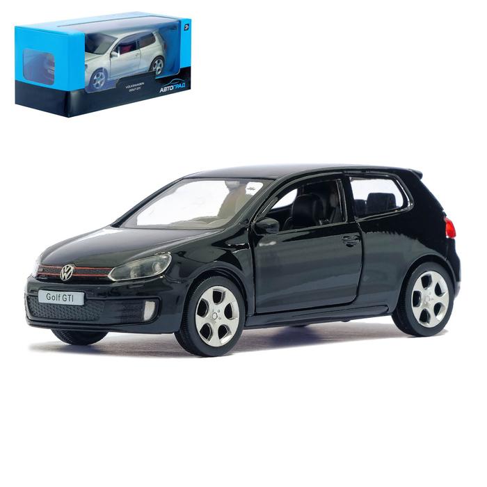Машина металлическая VOLKSWAGEN GOLF GTI, 1:32, инерция, цвет чёрный - фото 105654300