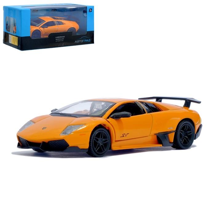 Машина металлическая LAMBORGHINI MURCIELAGO LP 670-4 SV, 1:32, инерция, цвет оранжевый - фото 105654309
