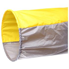 Тоннель для эстафет, длина 335 см, 1 кольцо диаметром 76 см, цвет жёлтый/серый