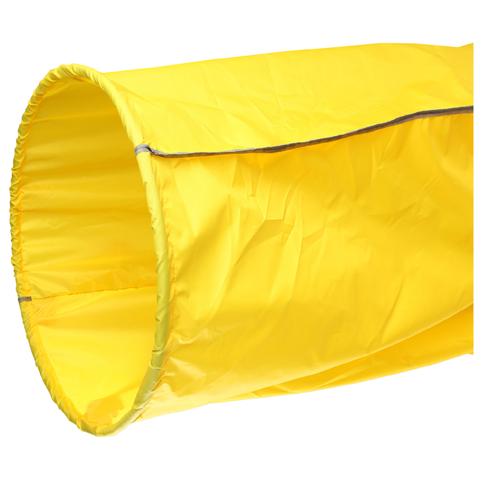 Тоннель для эстафет, длина 3,5 м, 2 обруча d=75 см, цвет жёлтый