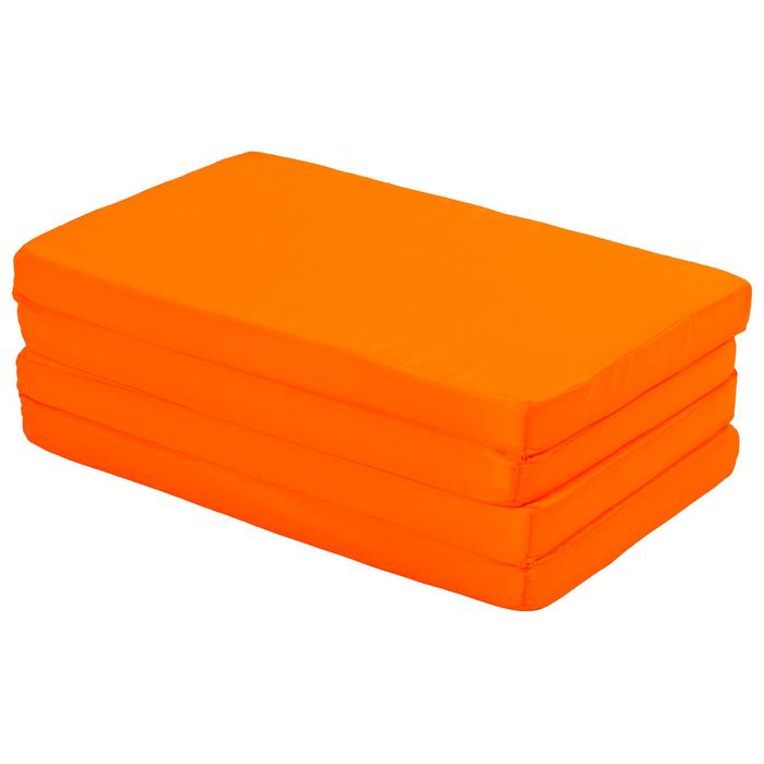 Мат 120х50х4 см, 3 сложения, oxford, цвет оранжевый