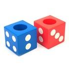 Подставка для пишущих принадлежностей Игральный кубик МИКС 7.5х7.5х7.5 см