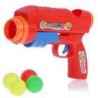 """Pistol """"Ping pong"""", shoots balls, MIX colors"""