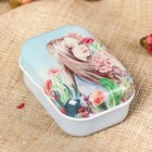 "Box metal rectangular ""Flowers"" MIX 2,5х6х4 cm"