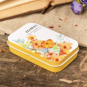 "Box metal rectangular ""Scent of flowers"" MIX 2x9,8x6 cm"