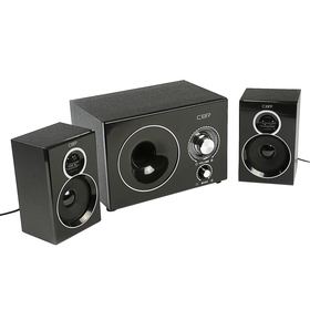 Computer speakers 2.1 CBR CMS 743 Wooden, 2x3 W + 6 W, 220 V, black