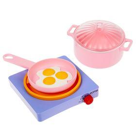 Набор посуды с плитой «Летний. Для любимой дочки», МИКС