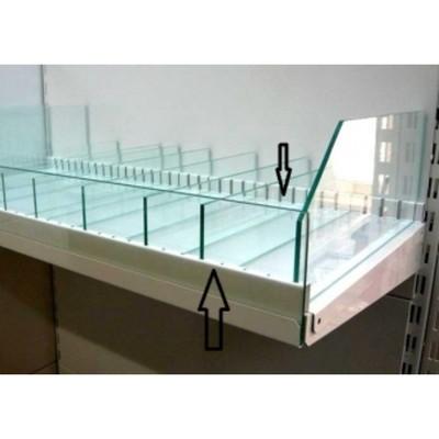 Держатель для разделителя из стекла, на полку, 900 мм, металл