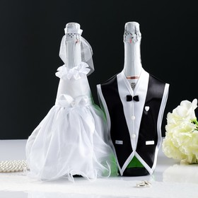 "Decoration on champagne ""Tuba"", white"