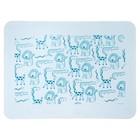 Коврик силиконовый детский, для кормления, антискользящий, от 5 мес., цвет голубой