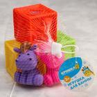 Набор резиновых игрушек для игры в ванной «Кубики и зверята 2», 5 шт. - фото 105535020