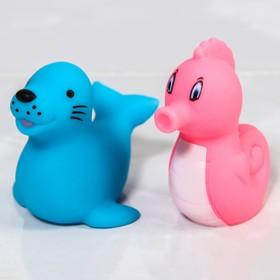 Набор резиновых игрушек для игры в ванной «Милые крохи», 12 шт.