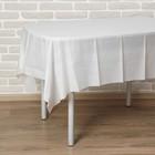 """Скатерть 137*183 см """"Праздничный стол"""", цвет белый"""