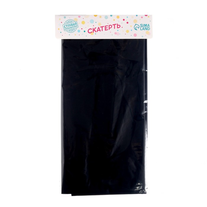 """Tablecloth """"Holiday table"""", 137*183 cm, color black"""