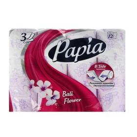 Туалетная бумага Papia Bali Flower, 3 слоя, 12 рулонов