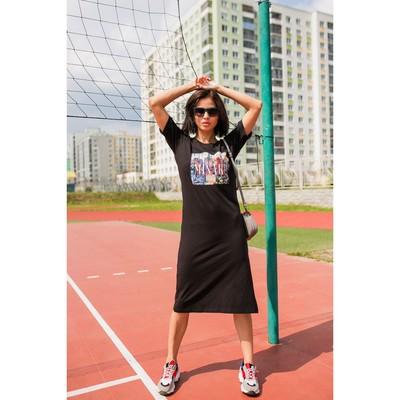 """Платье женское MINAKU, """"Город"""", размер 48, цвет чёрный"""