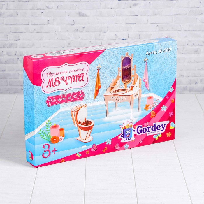 Мебель для больших кукол до 30см «Туалетная комната»  М-009
