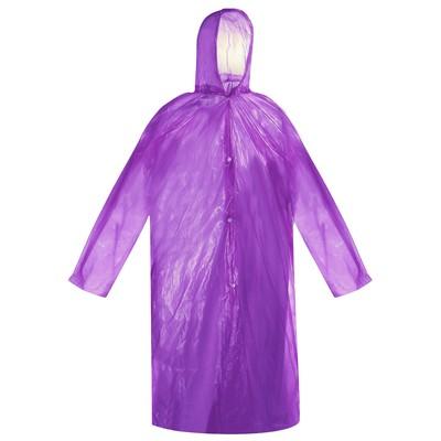 Дождевик-плащ взрослый универсальный, цвета МИКС