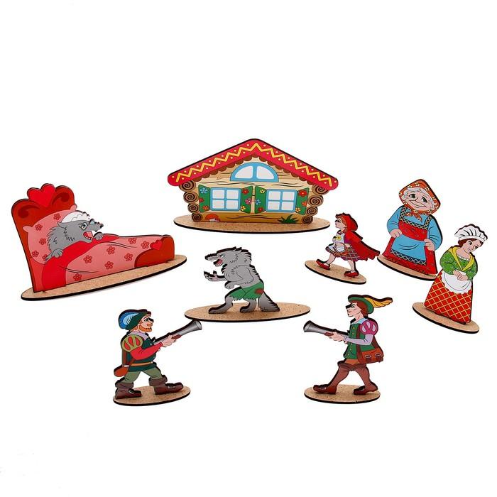 """Кукольный театр сказки на столе """"Красная шапочка"""" высота фигурок: 4-12 см"""