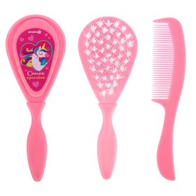 """Children's comb + massage hair brush """"Most beautiful"""", from 0 months., color pink"""