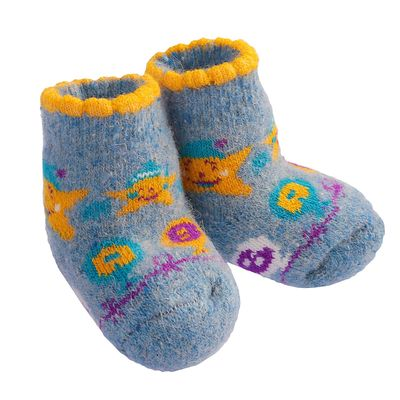 Носки детские шерстяные «Звездочка», цвет голубой, размер 10