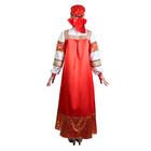 """Русский народный костюм """"Золотые узоры"""", платье, сорока, атлас, р-р 50, рост 172 см - фото 107023854"""