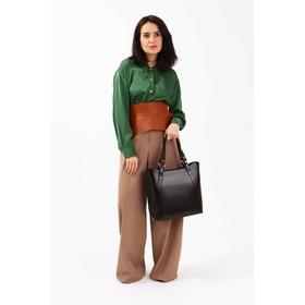 Сумка женская, отдел с перегородкой на молнии, наружный карман, цвет коричневый - фото 50063
