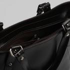 Сумка женская, отдел с перегородкой на молнии, наружный карман, цвет коричневый - фото 50064