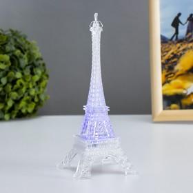 "Ночник акрил ""Эйфелева башня"" LED RGB 3хAG13 7х7х18 см"