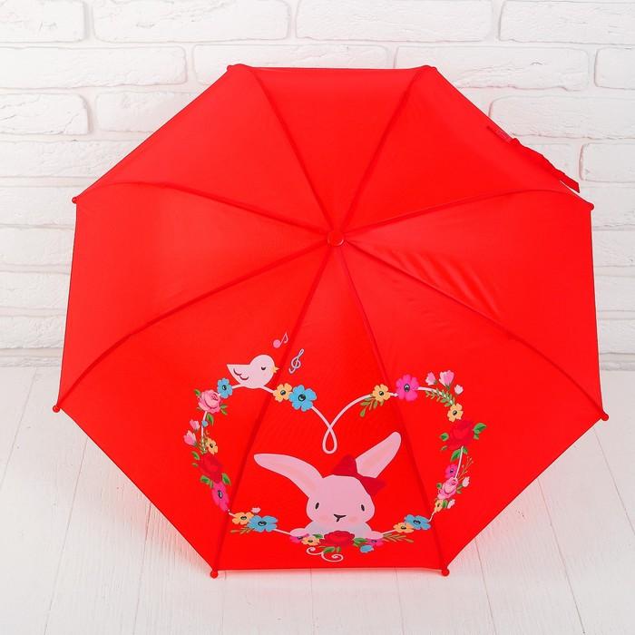 Зонт детский Rose Bunny, r=41 см, коллекция Lady Mary