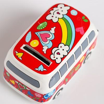 "Копилка керамика ""Весёлый автобус"" МИКС 6х11х6,5 см"