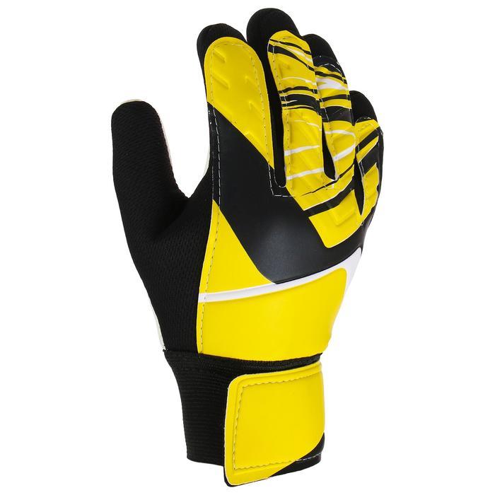 Перчатки вратарские, размер 8, цвет желтый