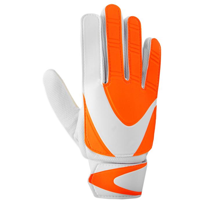 Перчатки вратарские, размер 6, цвет оранжево-белый