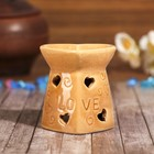 """Аромалампа керамика """"Сердце Love"""" МИКС 7,7х6,5х7 см"""