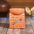 """Аромалампа керамика """"Кирпичная кладка"""" МИКС 8,5х6,5х6,5 см"""