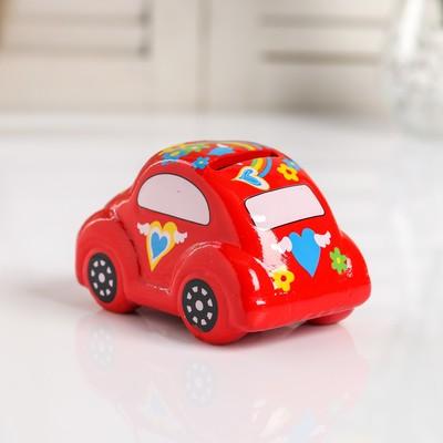 """Копилка керамика """"Машинка в цветах"""" МИКС 6,5х11х6,5 см"""