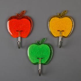 Набор крючков на липучке 'Яблочки', 3 шт, цвета МИКС Ош