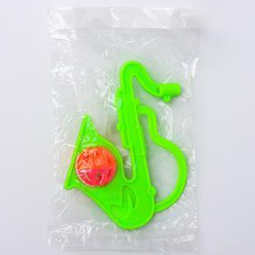 Погремушка «Саксофон», цвета МИКС