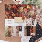 """Бумага для скрапбукинга """"Осенний лес"""" набор 12 листов, 30,5х30,5 см, 250 гр/м2"""