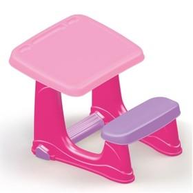 Парта со скамейкой и открывающейся столешницей DOLU розовая